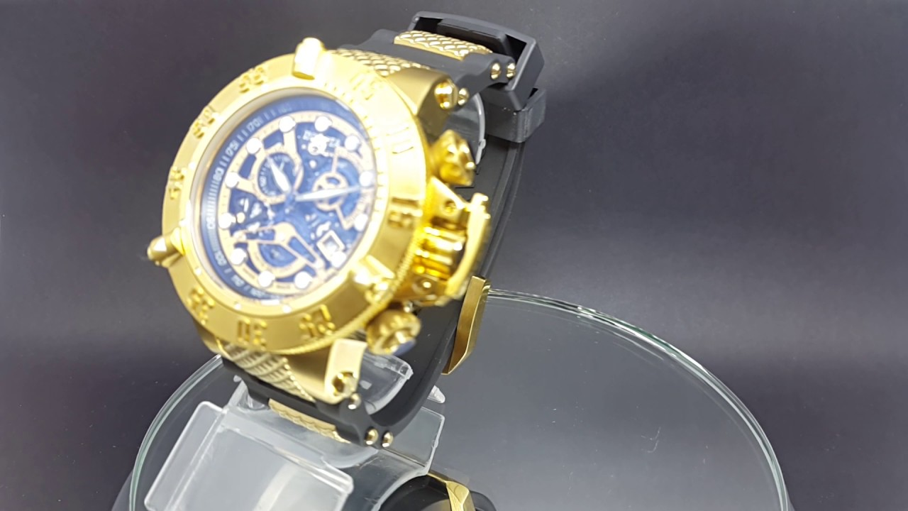 33bf81d3b71 INVICTA SUBAQUA CHONOGRAPH GOLD SKELETON DIAL 18526 - YouTube