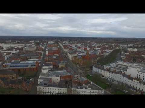 Royal Leamington Spa from the air