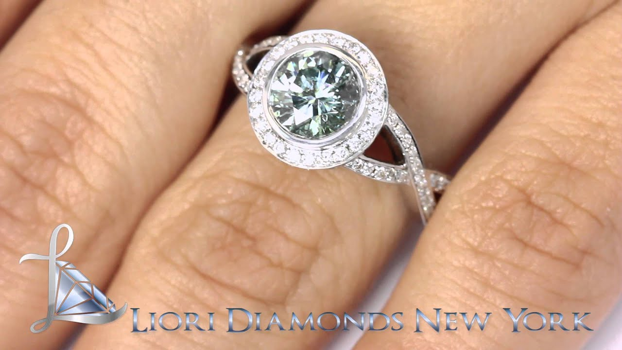 FD 181 2 19 Carat Fancy Blue Diamond Engagement Ring 18k White