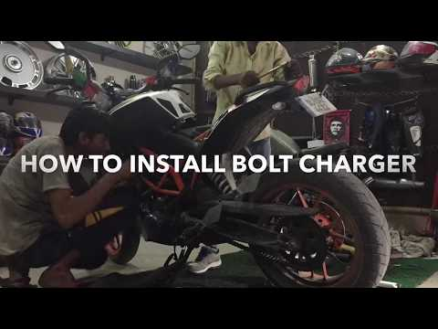 Unboxing video of bolt charger | How to install bolt charger | ktm duke 390