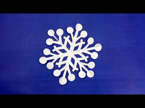 Paper Snowflake Tutorial | DIY Paper Crafts | Snowflakes Decoration Ideas