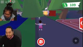 Roblox Adopt ME (I Adopted Sophia) She Ran Away, Swimming and Boat Ride, Sophias House Tour