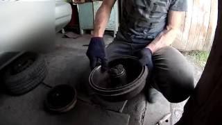 Как удалить выработку заднего тормозного барабана?