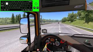 ETS2 | OBS Studio and nohboard keystrokes OSD test