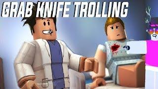 GRAB KNIFE TROLLING | ROBLOX EXPLOITING #2