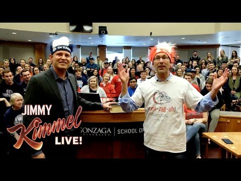 Gonzaga Tries to Convince Jimmy Kimmel They Exist