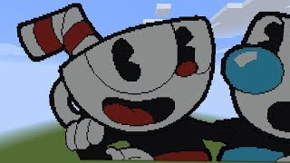 Minecraft Pixel Art | Cuphead [Speed Build]