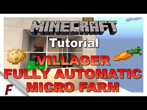 ✅ Minecraft Fully Automatic Villager Micro Nano Potato and Carrot Farm Mk I Tutorial 1.12.2