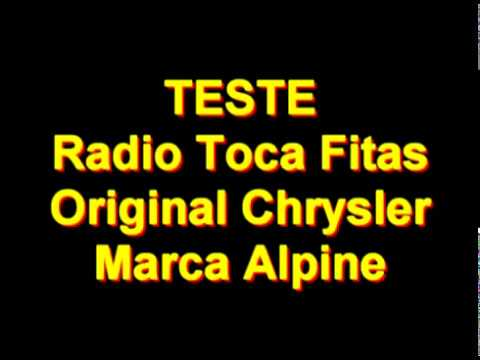 Auto Radio Toca Fitas Original Chrysler Marca Alpine