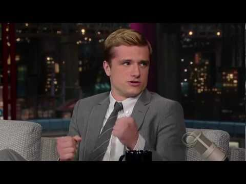 Josh Hutcherson on The Late  with David Letterman 2012.11.20