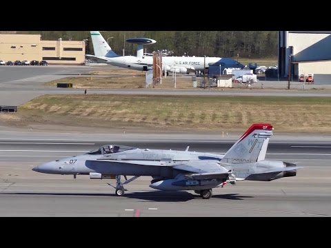 F/A-18C Takeoff and Pilot Interview