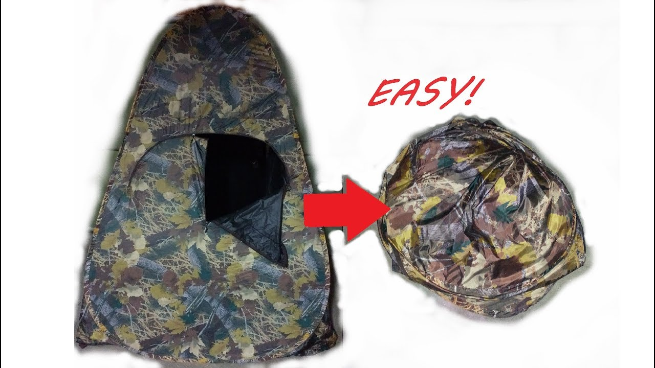 How To Fold an Outhouse Blind: Fastest & Easiest Way to Collapse an  Ameristep Hunting Blind