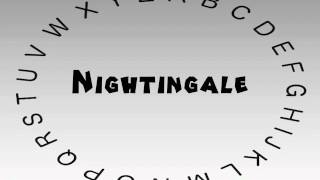 How to Say or Pronounce Nightingale