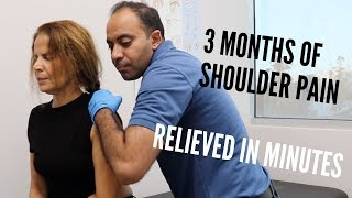 3+ Months of Shoulder pain Relieved In Minutes (REAL TREATMENT!!!!)