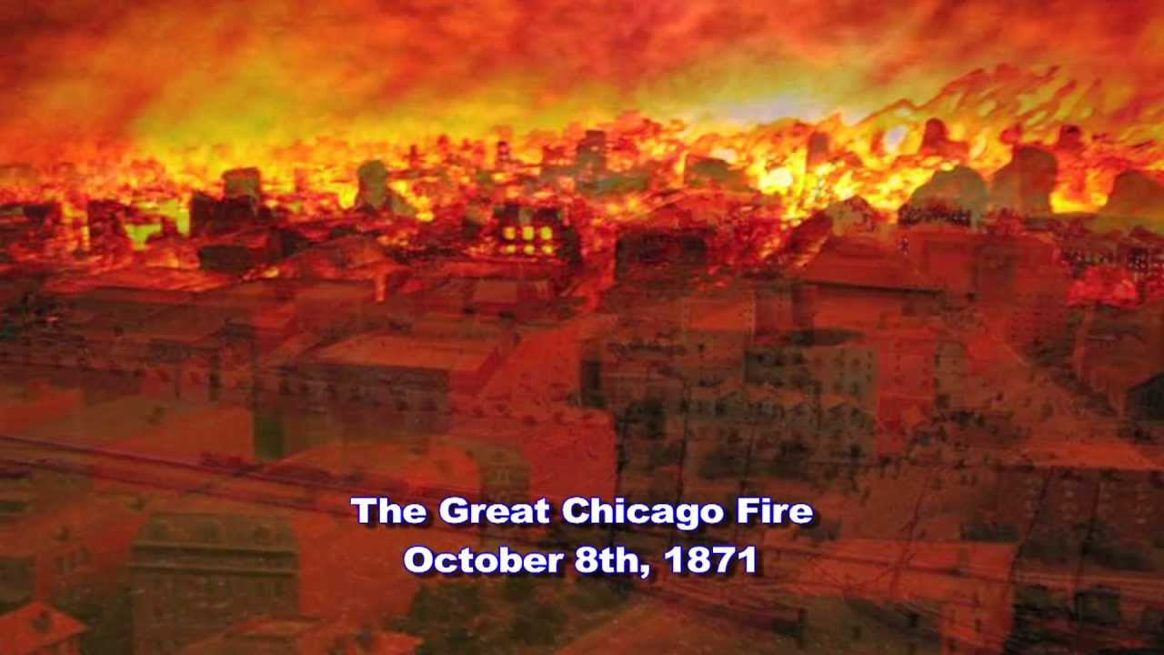 Weather History: The Great Chicago Fire 1871 - YouTube