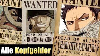 Alle Kopfgelder aus One Piece 2017! | SerienReviewer