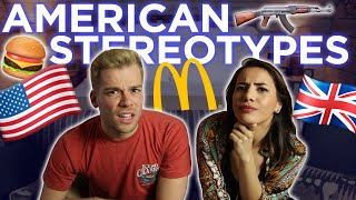🇺🇸AMERICAN STEREOTYPES BRITISH PEOPLE BELIEVE! 🇬🇧 Video