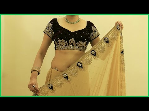 Proper Saree Draping Video | How To Wear Heavy Saree Blouse(Sari) thumbnail
