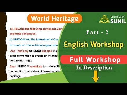 World Heritage English Workshop - 2 ( Workshop, Activity-Based Questions) : 10th Standard