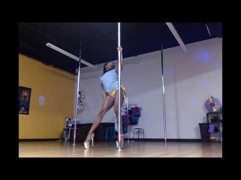 Pole Bunny | Creating Pole Dance Combo | Psilocybin | Jhene Aiko