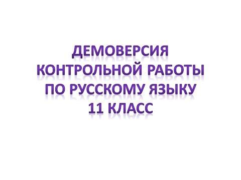 Контрольная работа по русскому языку. 11 класс.