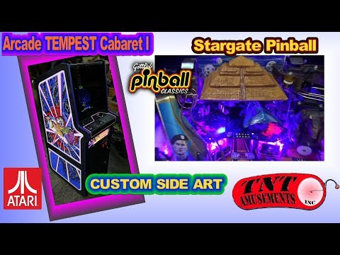 #1286 Atari TEMPEST Cabaret w/CUSTOM Side Art-STARGATE Pinball-GALAXIAN Arcade Game-TNT Amusements