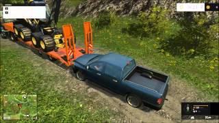 Farming simulator 2015 First Multiplayer Gameplay
