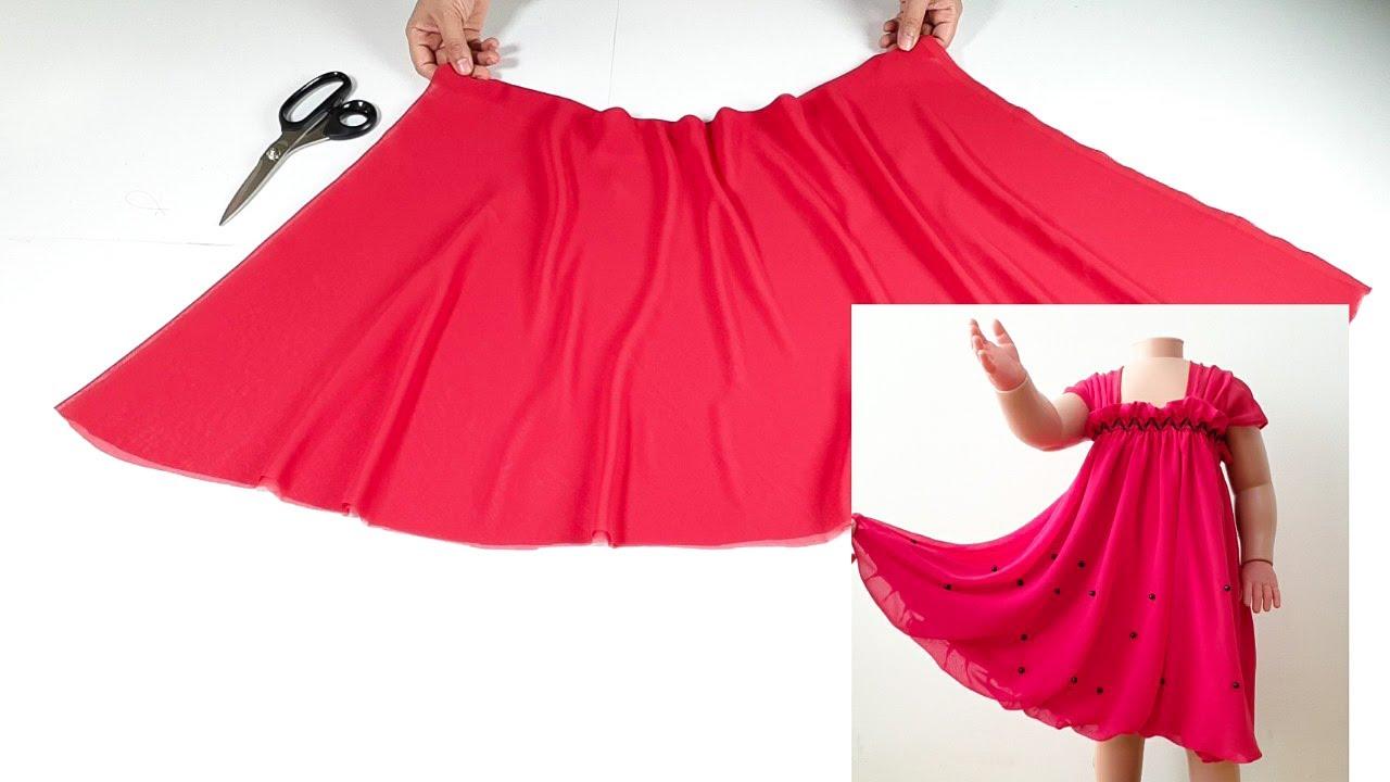 أبسط وأجمل فستان ممكن يخيط في دقائق