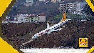 Turquie  un Boeing achève son atterrissage sur une falaise de la mer Noire
