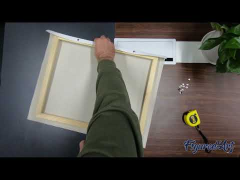 Paint by Numbers: How to Stretch your Canvas on a DIY Wooden Frame