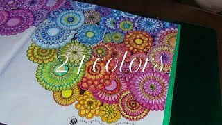 【大人のぬり絵】色鉛筆 24colors ひみつの花園 BGM付