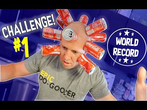 Crazy Coke Can Challenge - New World Record!