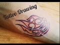 How to draw tattoo on your hand with pens - Tattoo Drawing