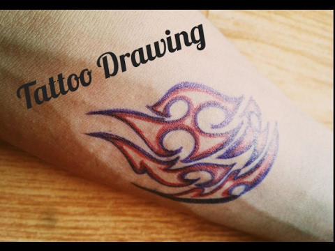 bd17e2f20 How to draw tattoo on your hand with pens - Tattoo Drawing - YouTube