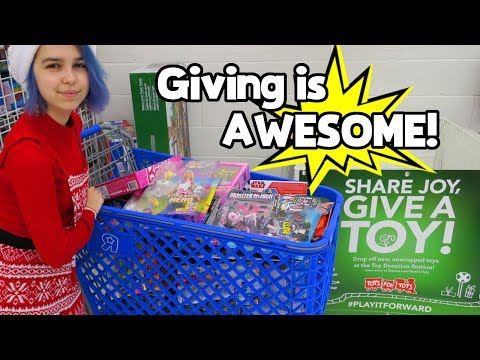 GIVING IS AWESOME! | TOYS FOR TOTS