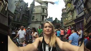 Universal Studios vacation! First trip to Diagon Alley and Escape From Gringotts ride