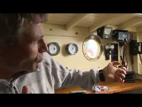 Sir Robin Knox-Johnston shows off his yacht to current Vendee Globe Skippers.