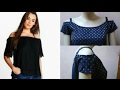 Off shoulder top DIY | Off shoulder dress drafting, cutting and stitching step by step tutorial