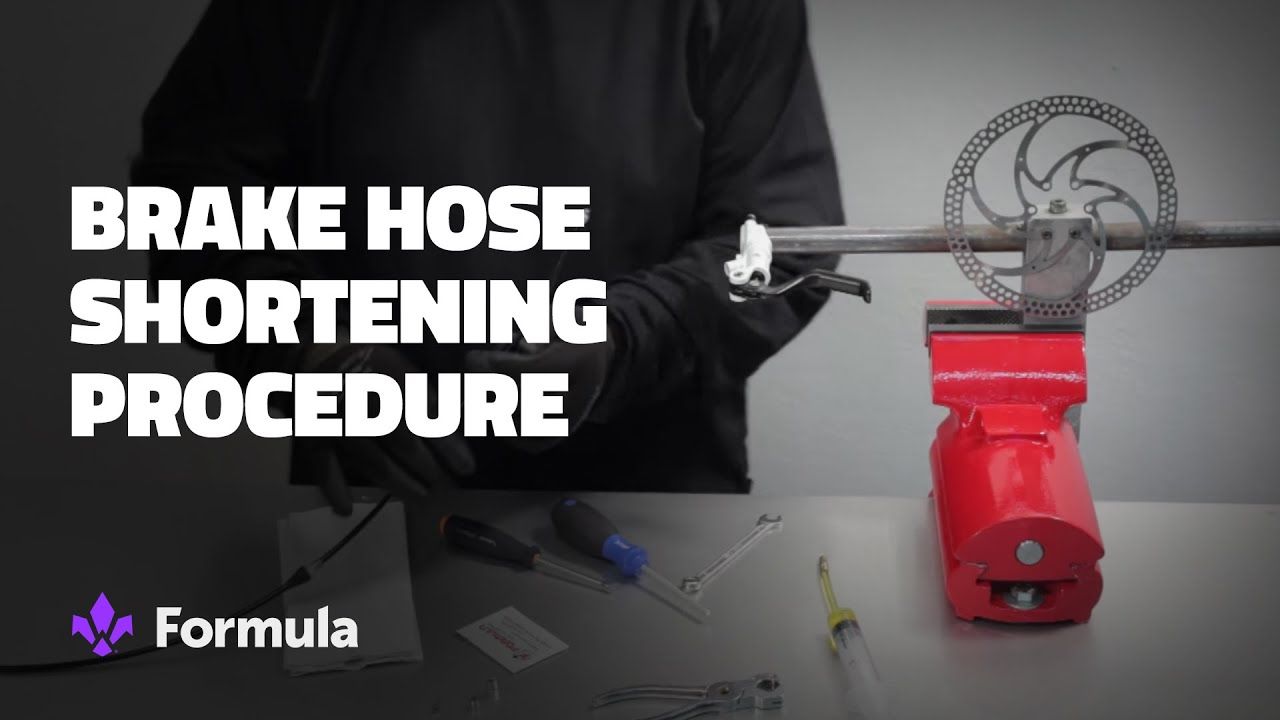 Brake hose shortening procedure