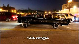 Lowriders on Hollywood Blvd cruise 2017 (raw footage)