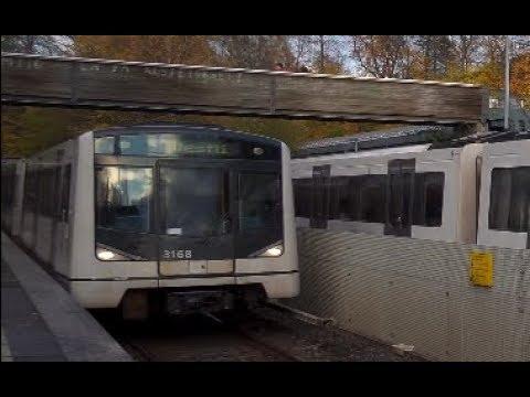 Norway, Oslo, metro ride from Blindern to Majorstuen