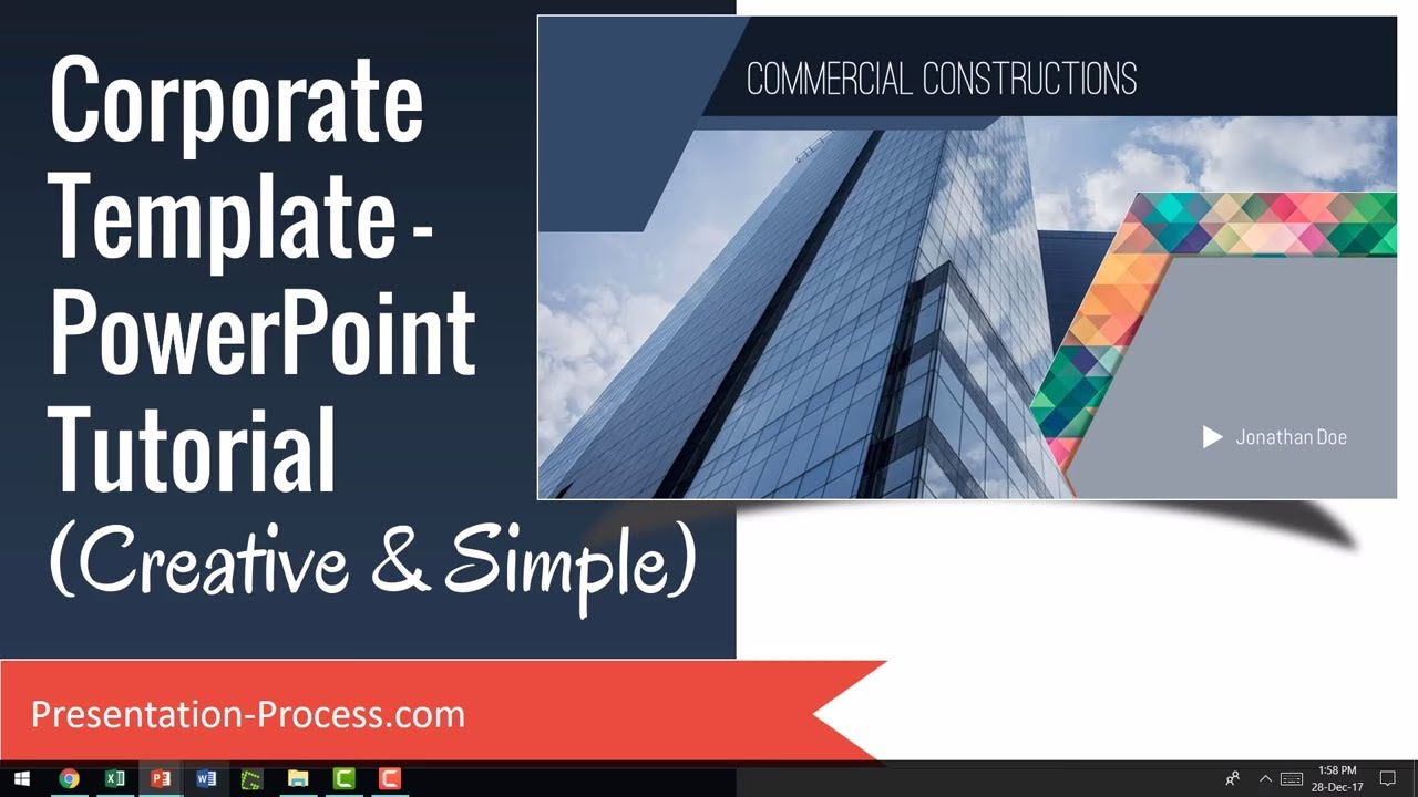 corporate template powerpoint tutorial creative simple youtube