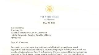 Trump cancela su cumbre con el líder de Corea del Norte