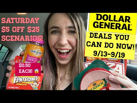 DOLLAR GENERAL 9/13-9/19 DEALS YOU CAN DO NOW + SATURDAY $5 OFF $25