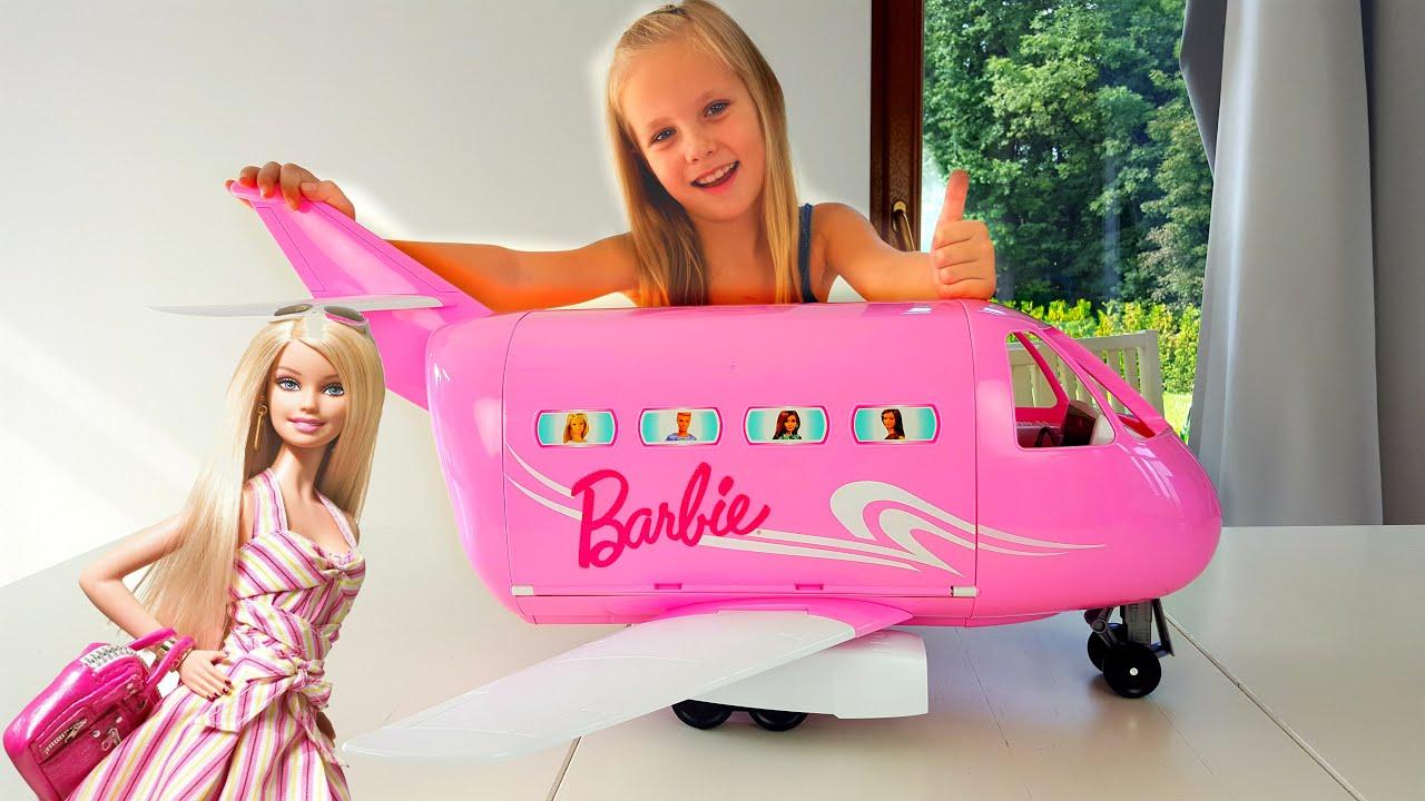 ✈   ГИГАНТСКИЙ Самолет БАРБИ Николь ВЫИГРАЛА в Челлендж !Barbie + .