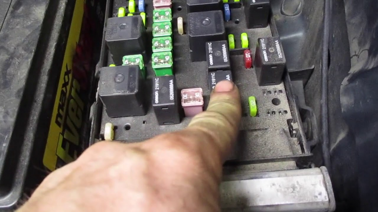 Fuse Box Relay Location Chrysler Town and Country 2001 2002 2003 2003 2005  2006 2007 - YouTubeYouTube