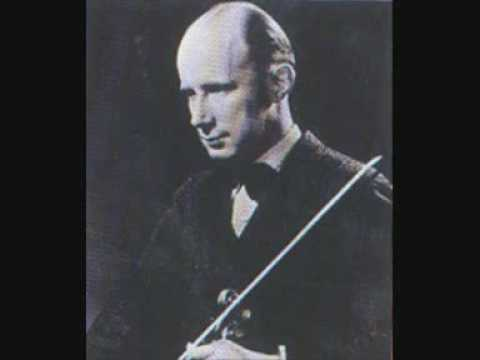 Georg Kulenkampff plays Schumann violin concerto Part1