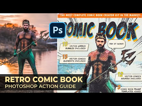 Retro Comic Book Photoshop Action Guide