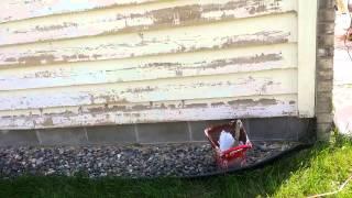 Sanding exterior siding