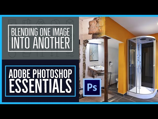 How to blend fade one image into another - Photoshop CC Essentials [32/86]